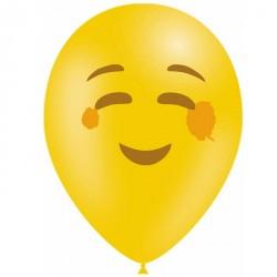 10 ballons émojis Blushing