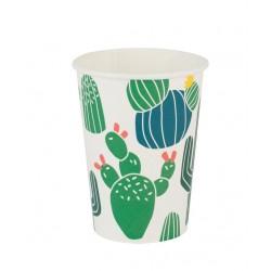 8 gobelets en carton - cactus