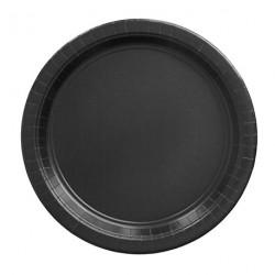 8 assiettes en carton - noir