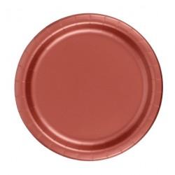 24 assiettes en carton - brick