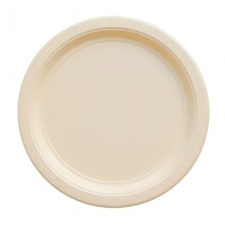 24 assiettes en carton - ivoire