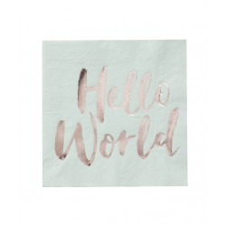 20 serviettes Hello world