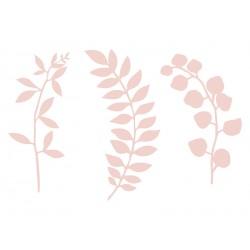 1 décoration en papier  branche rose poudré