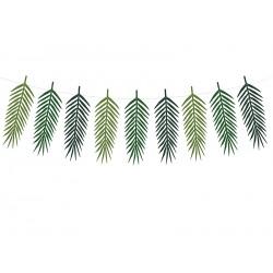 Guirlande en papier feuilles tropicales