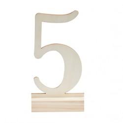 Numéro de table en bois 1-12