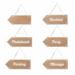 6 pancartes signalétique mariage