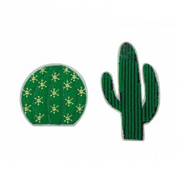 Set de deux broches cactus