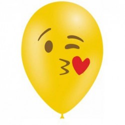 10 ballons émojis  Kissing