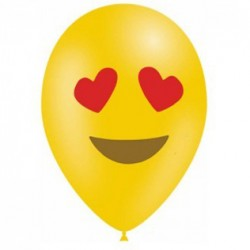 10 ballons émojis Heart eyes