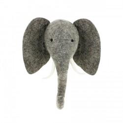 Trophée tête d'éléphant