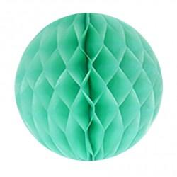 Boule alvéolée bleu acqua