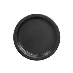 24 petites assiettes noire