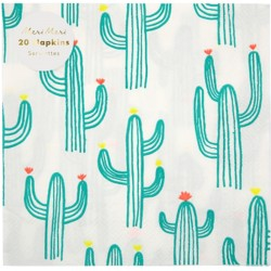 20 serviettes cactus meri meri