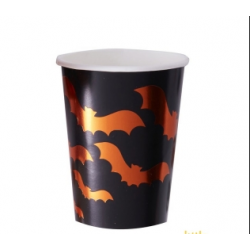 8 gobelets batman orange métal