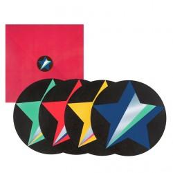 8 invitations - étoiles disco