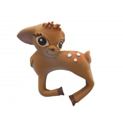 1 jouet de bain ou à mordiller-Bambi en latex d'hévéa
