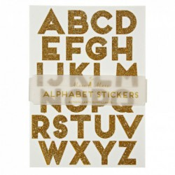 Alphabet Stickers - Glitter Or