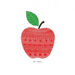 Carte  - Pomme rouge