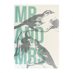 "Carte Mariage ""Mr and Mrs"""