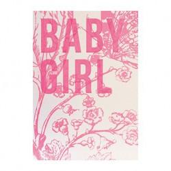 "Carte Naissance ""Baby Girl"""