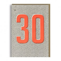 "Carte Anniversaire ""30-Thirty"""