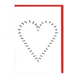"""Carte """"Coeur à relier"""""""