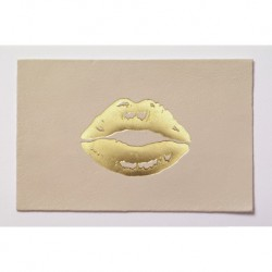 "Carte cuir ""Lips"""