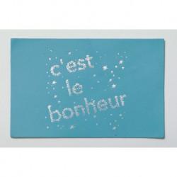 """Carte cuir """"C'est le bonheur"""""""