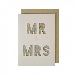 "Carte confettis ""Mr and Mrs"""