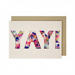 "Carte confettis ""Yay"""