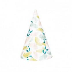 8 chapeaux pointus - fleuri