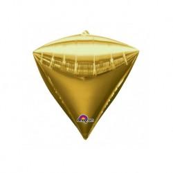Ballon mylar Diamant doré