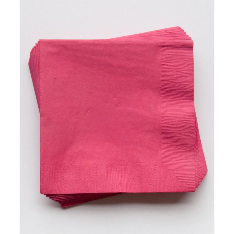 20 serviettes en papier rose fuchsia happy family. Black Bedroom Furniture Sets. Home Design Ideas