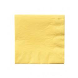 20 serviettes en papier - jaune