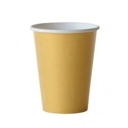 24 gobelets en carton - doré