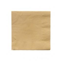 50 serviettes en papier - doré