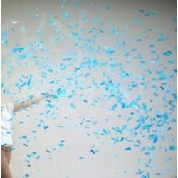 Canon à confettis - rectangles bleus