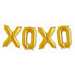 "Ballon kit message ""XOXO"""