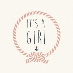 """Faire-part """"It's a girl"""""""