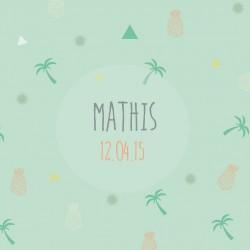 """Faire-part """"Mathis"""""""