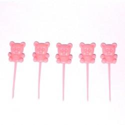 18 pics 'teddy bear' 8 cm rose