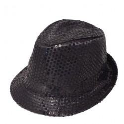 Chapeaux noirs pailletés