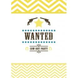 8 cartons d'invitation anniversaire cowboy
