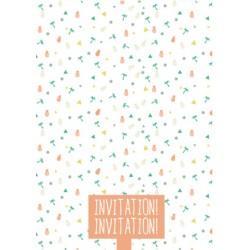 8 cartons d'invitation anniversaire summer