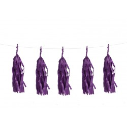 Guirlande tassel violet