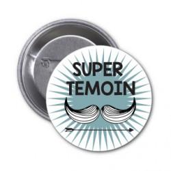"""Badge """"super témoin Moustache"""" etoile"""