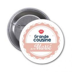 """Badge """"Grande cousine du Marié"""""""