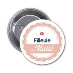 "Badge ""Filleule du marié"""