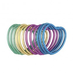 6 bracelets métalliques en forme de coeur