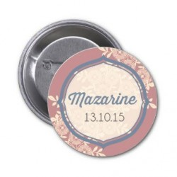 "Badge à personnaliser ""Mazarine"""